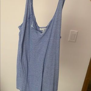 American Eagle Blue and White Striped Tanktop